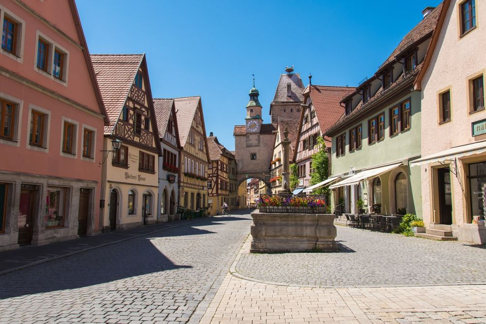Rothenburg ob der Tauber uliczka